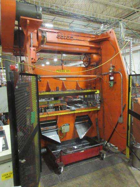 60 TON VERSON DOUBLE CRANK GAP FRAME PRESS