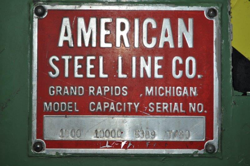 """10,000 x 48""""  AMERICAN STEEL LINE UNCOILER"""