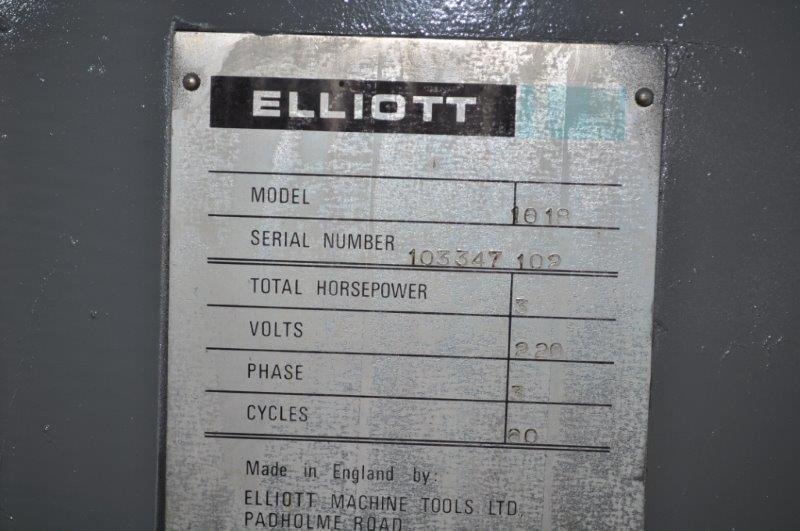 10 x 18 ELLIOTT HYDRAULIC SURFACE GRINDER