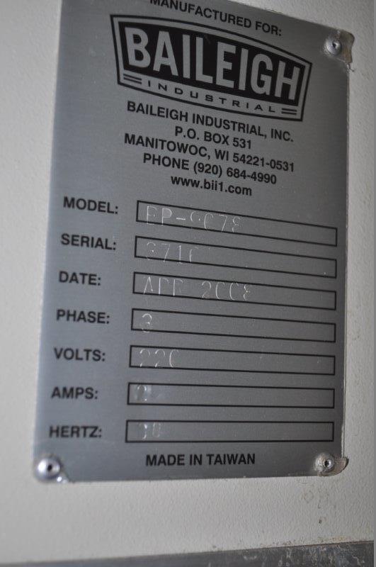 "90 TON x 80"" BAILEIGH HYDRAULIC PRESS BRAKE"