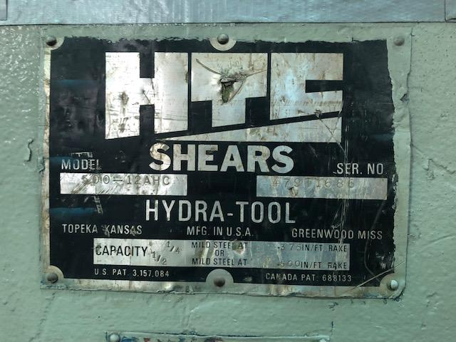 """12' x 1/2"""" HTC HYDRAULIC SHEAR"""