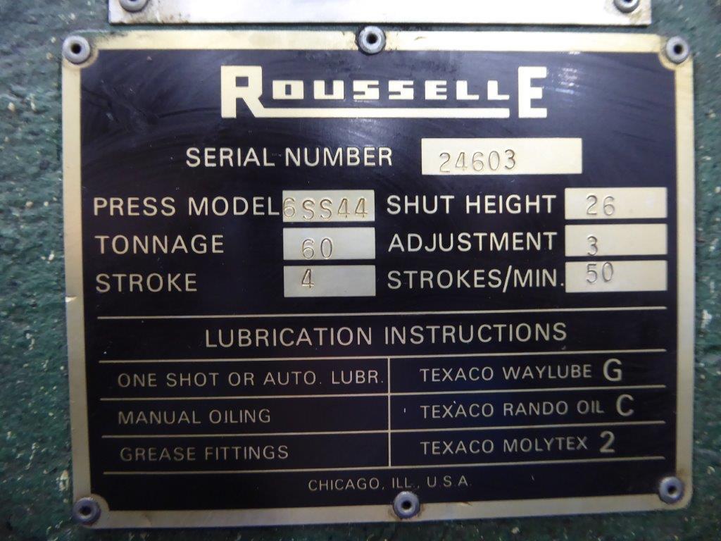 60 TON ROUSSELLE SSDC PRESS