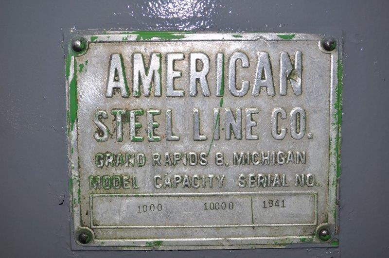 "10,000 LB x 48"" AMERICAN STEEL LINE MOTORIZED UNCOILER"