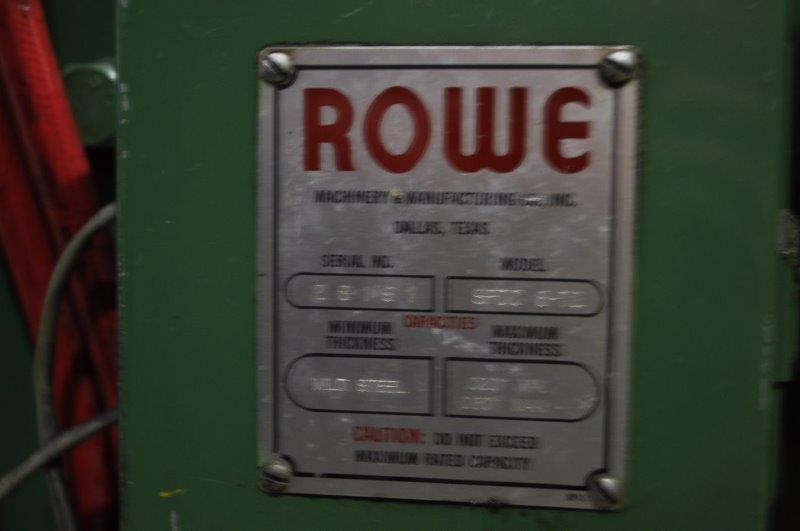 """72"""" x .060"""" ROWE STRAIGHTENER"""