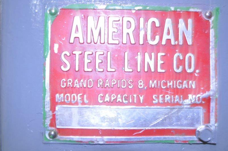 "2500 LB x 20"" AMERICAN STEEL LINE NON POWERED UNCOILER"