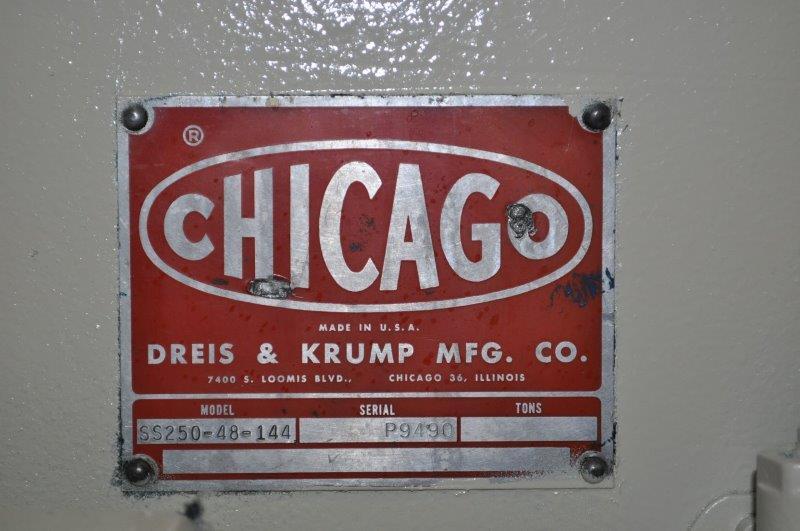 250 TON DREIS AND KRUMP SSDC PRESS