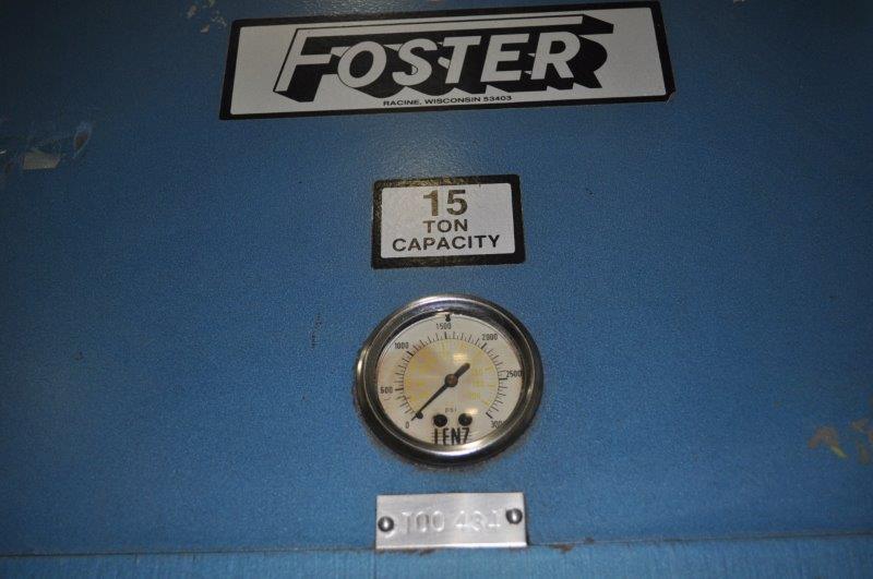 15 TON FOSTER 4 POST HYDRAULIC PRESS