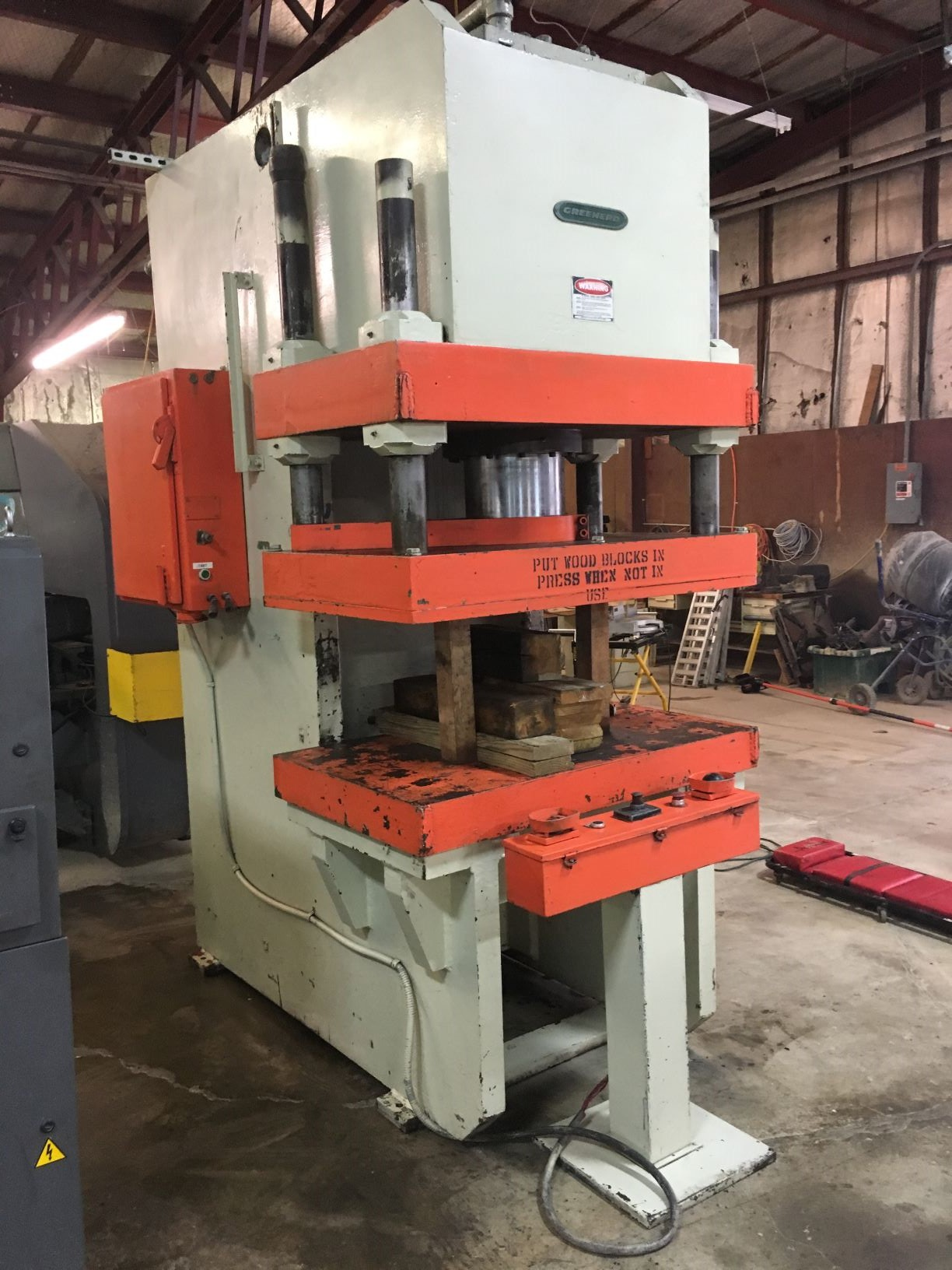 200 TON GREENERD C FRAME HYDRAULIC PRESS