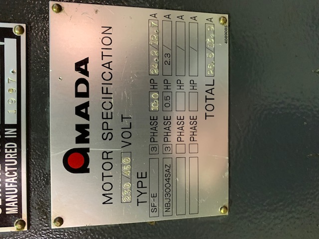 "8' x .250"" AMADA  SHEAR"