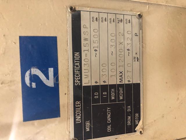 """2500 LB x 12"""" MATSUMOTO DOUBLE END UNCOILER"""