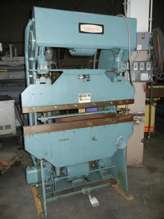 USED DIACRO HYDRO-MECHANICAL PRESS BRAKE, Model 14-48-2, 17 ton x 4', Stock No. 9750