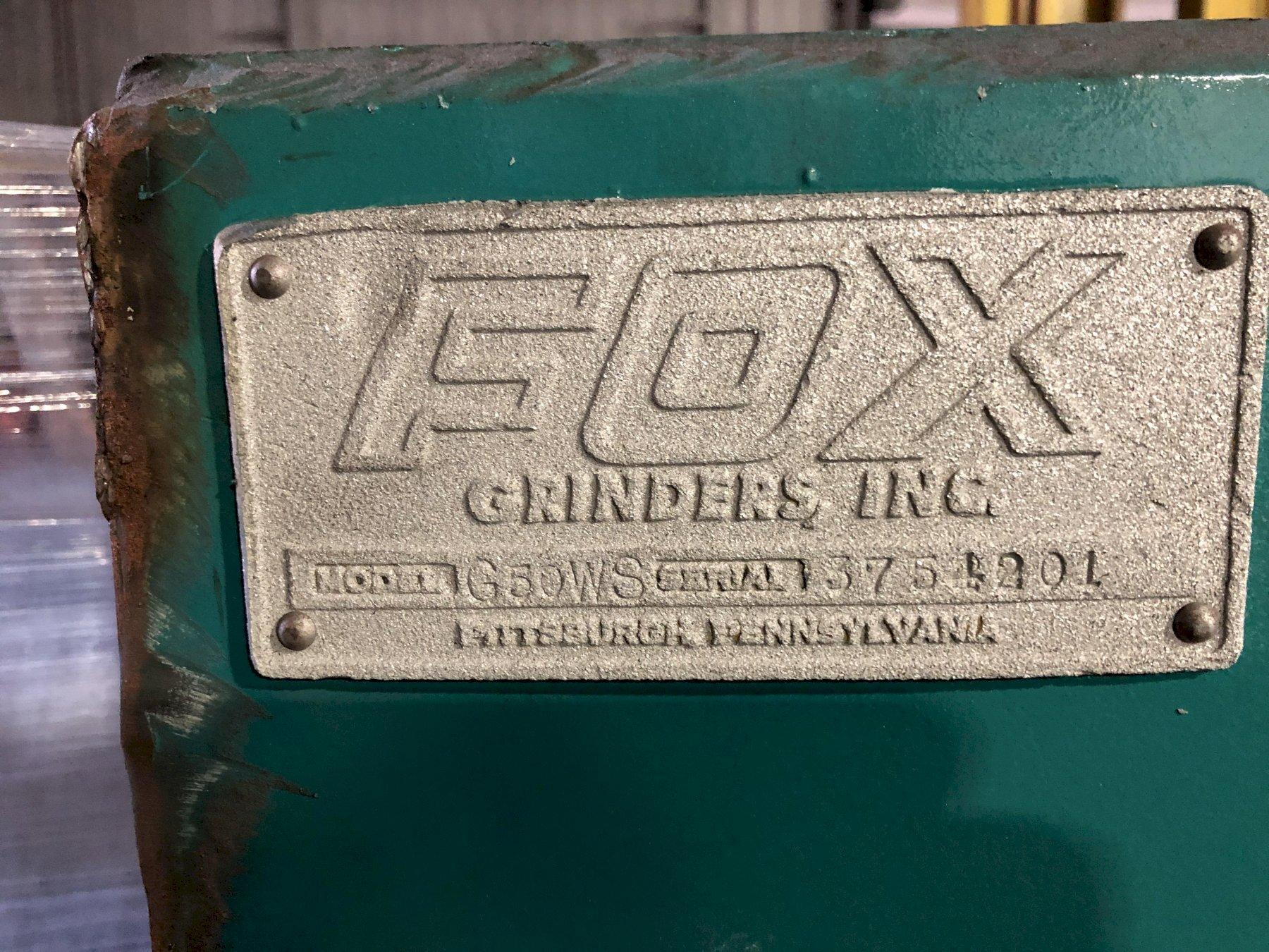 "RECONDITIONED FOX MODEL G50S3RHR 30"" SINGLE END RIGHT HAND GRINDER S/N 3754201, 20HP"