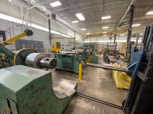 """36"""" x .125"""" x 20,000# LOOPCO/YODER LOOP SLITTING LINE   Our stock number: 114709"""