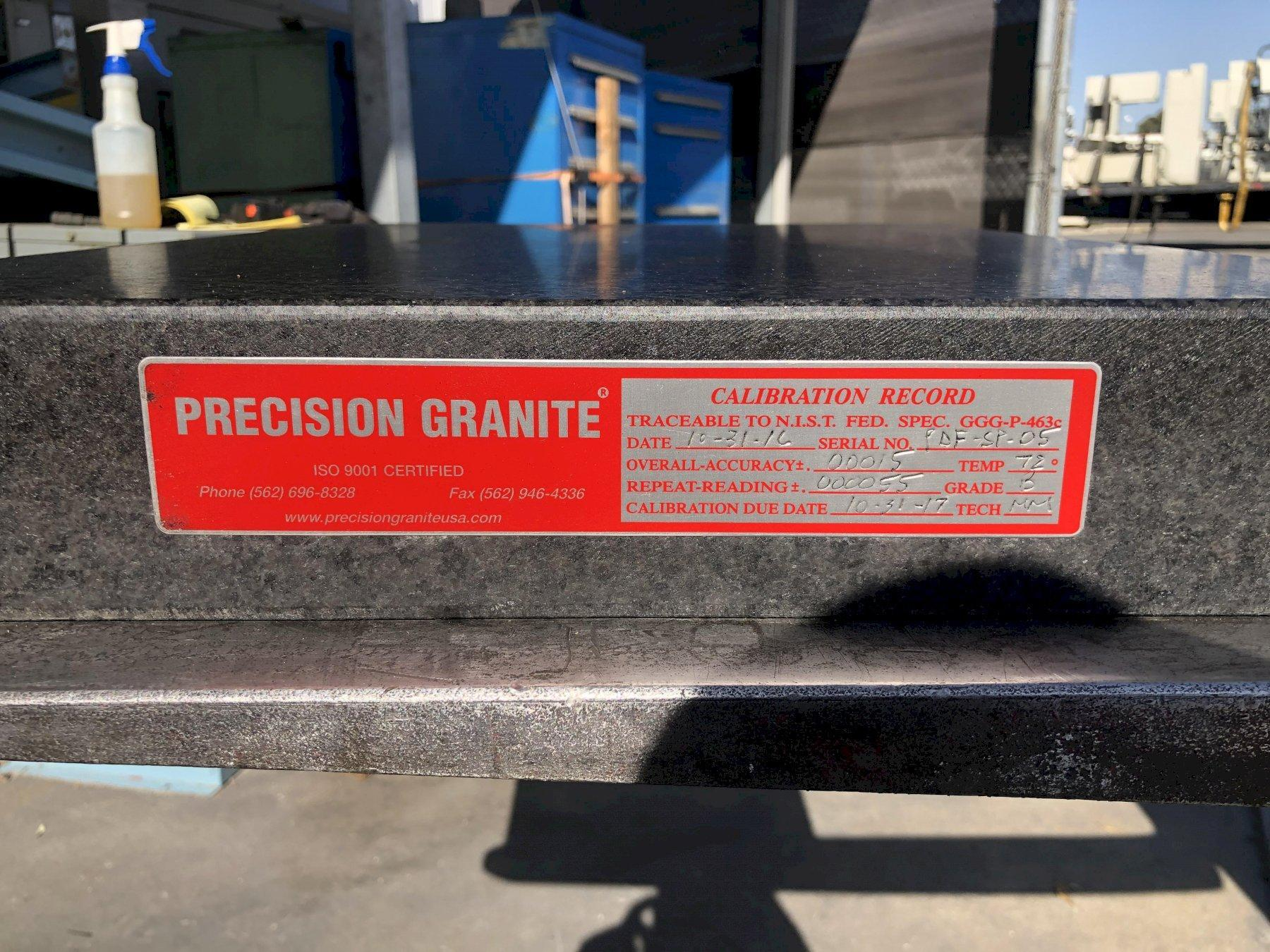 """Standridge Granite Surface Plate 24.5"""" x 18.5"""" x 3"""", Grade B."""