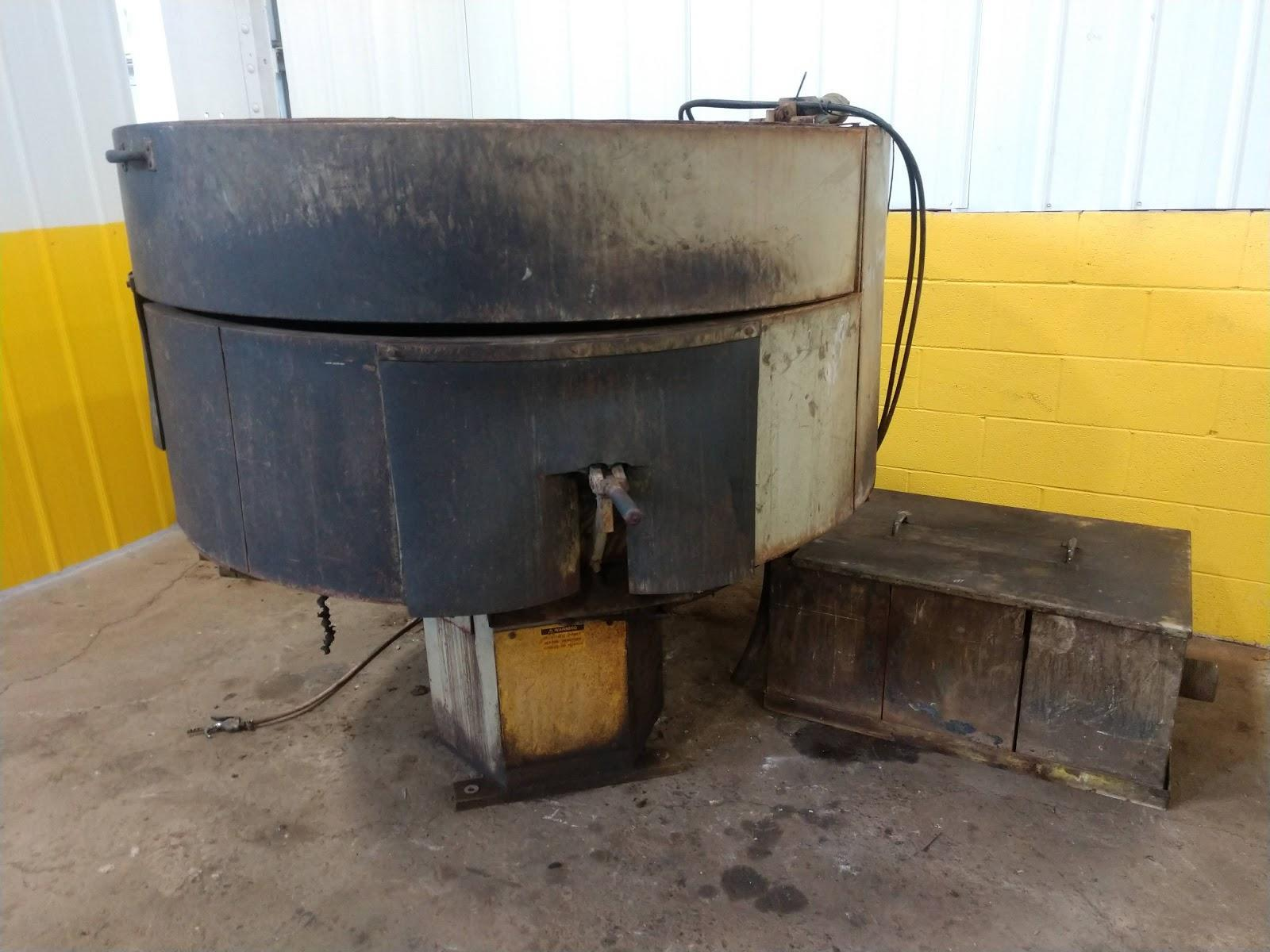 9 CU FT ALMCO MODEL OR-10VHE ROTARY VIBRATORY FINISHER:  STOCK #12914