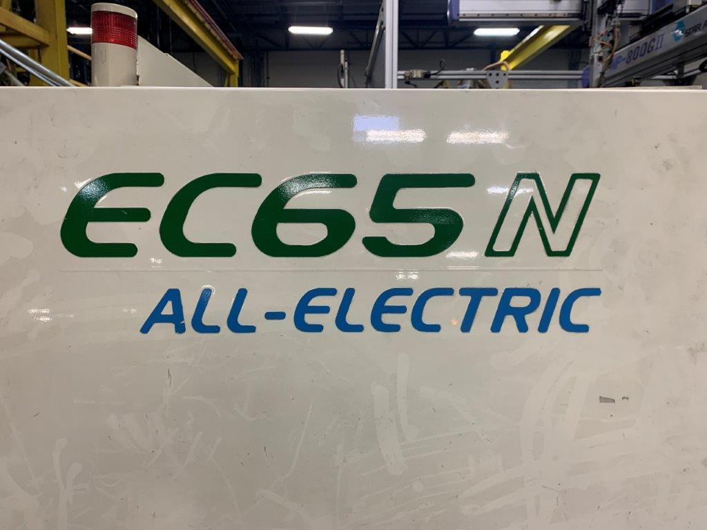 Toshiba Used ECN65NV21-1.5 Electric Injection Molding Machine, 66 US ton, Yr. 2004, 1.8 oz