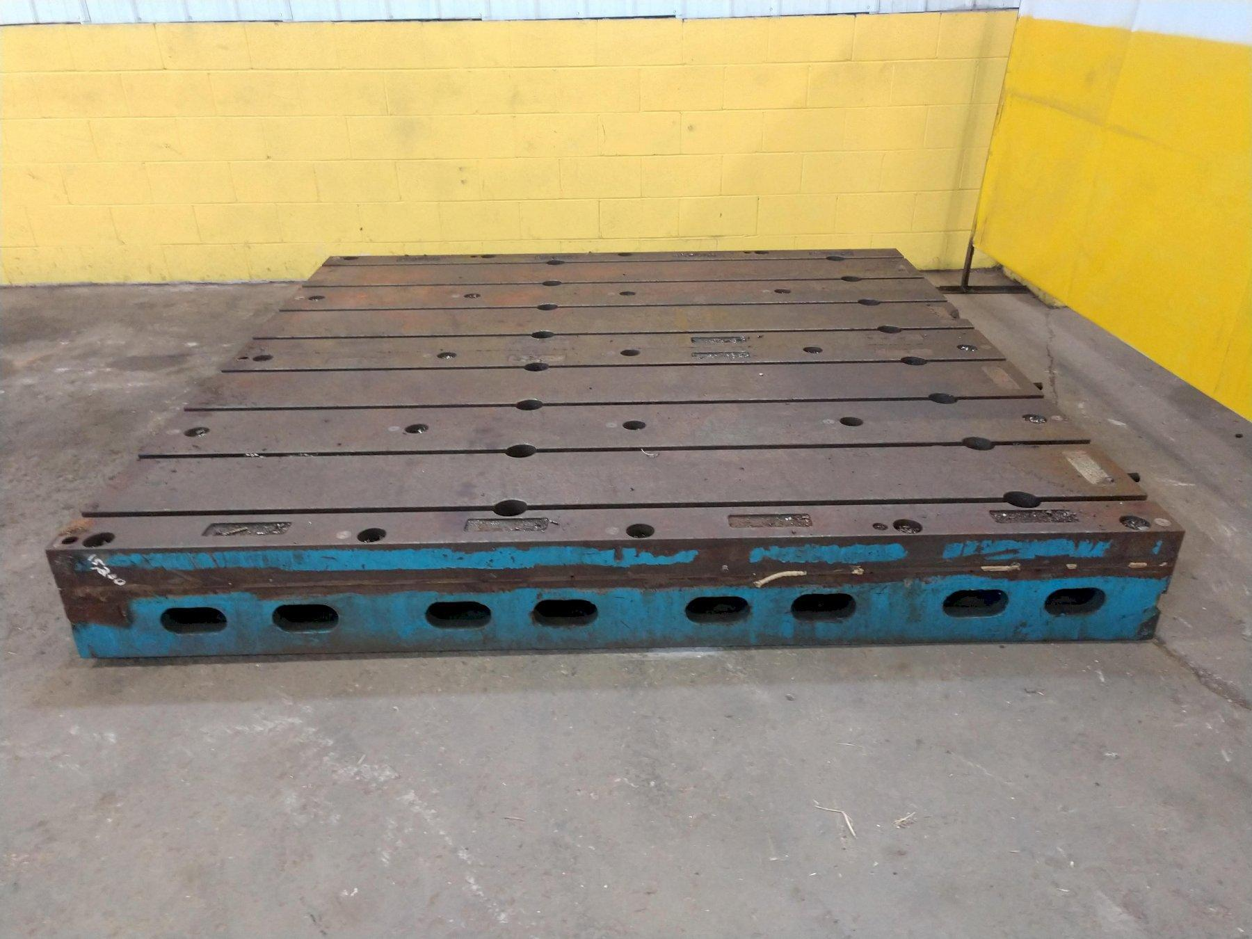 8' X 8' T SLOTTED FLOOR PLATE LAYOUT TABLE:  STOCK #13575