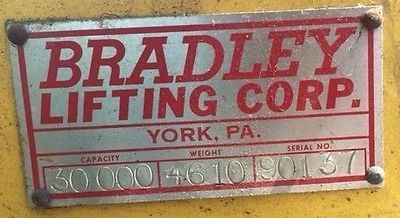 30,000 lb Bradley Rotating Coil Grab Coil Lift