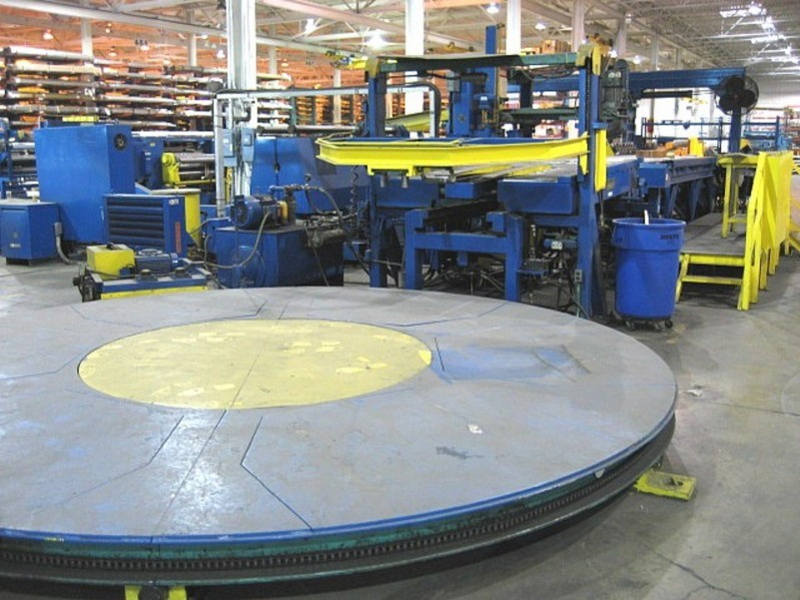 Coil Stacker Table, Banding Line