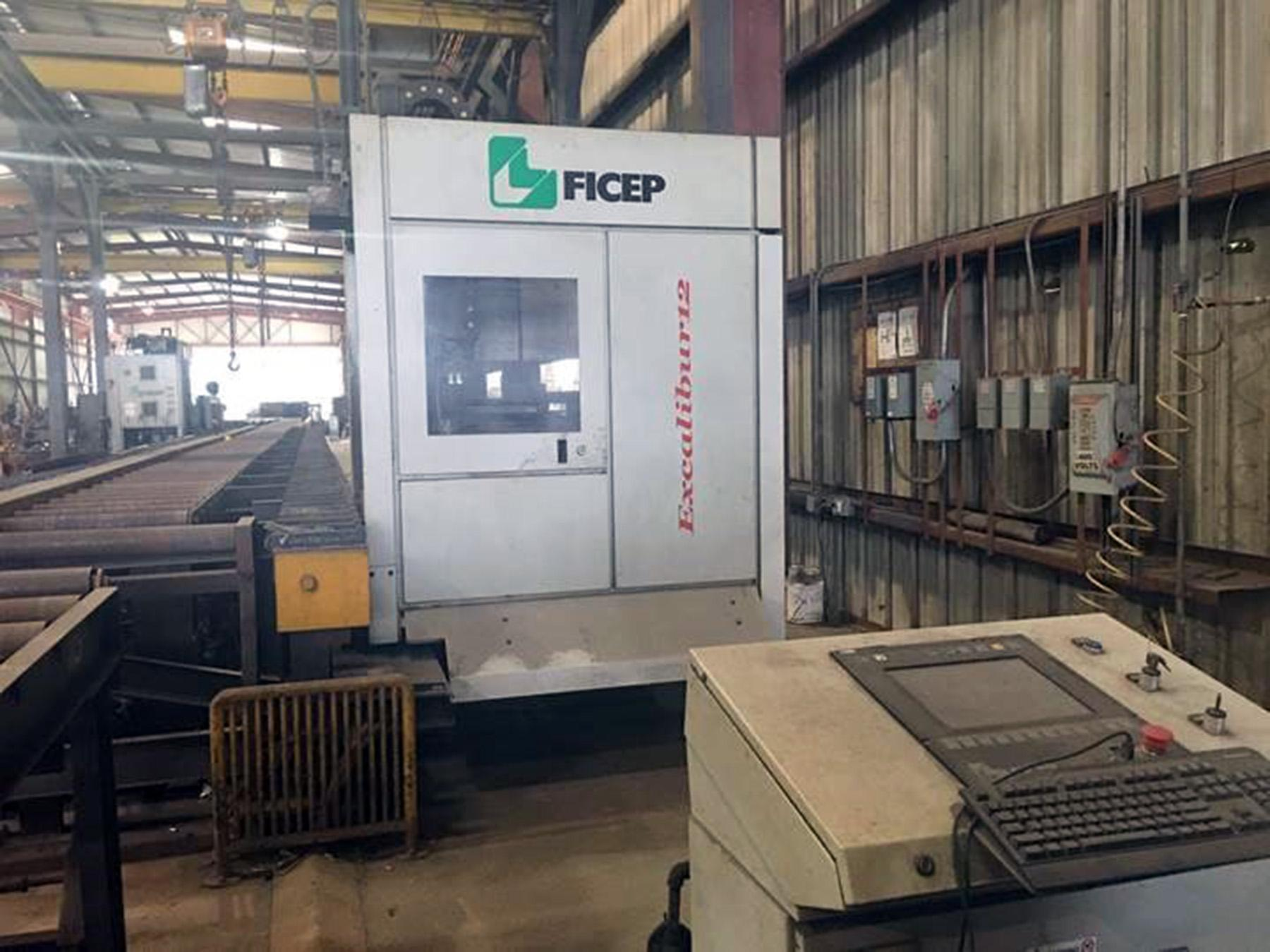 USED, FICEP EXCALIBUR 12 CNC SINGLE SPINDLE BEAM DRILL LINE