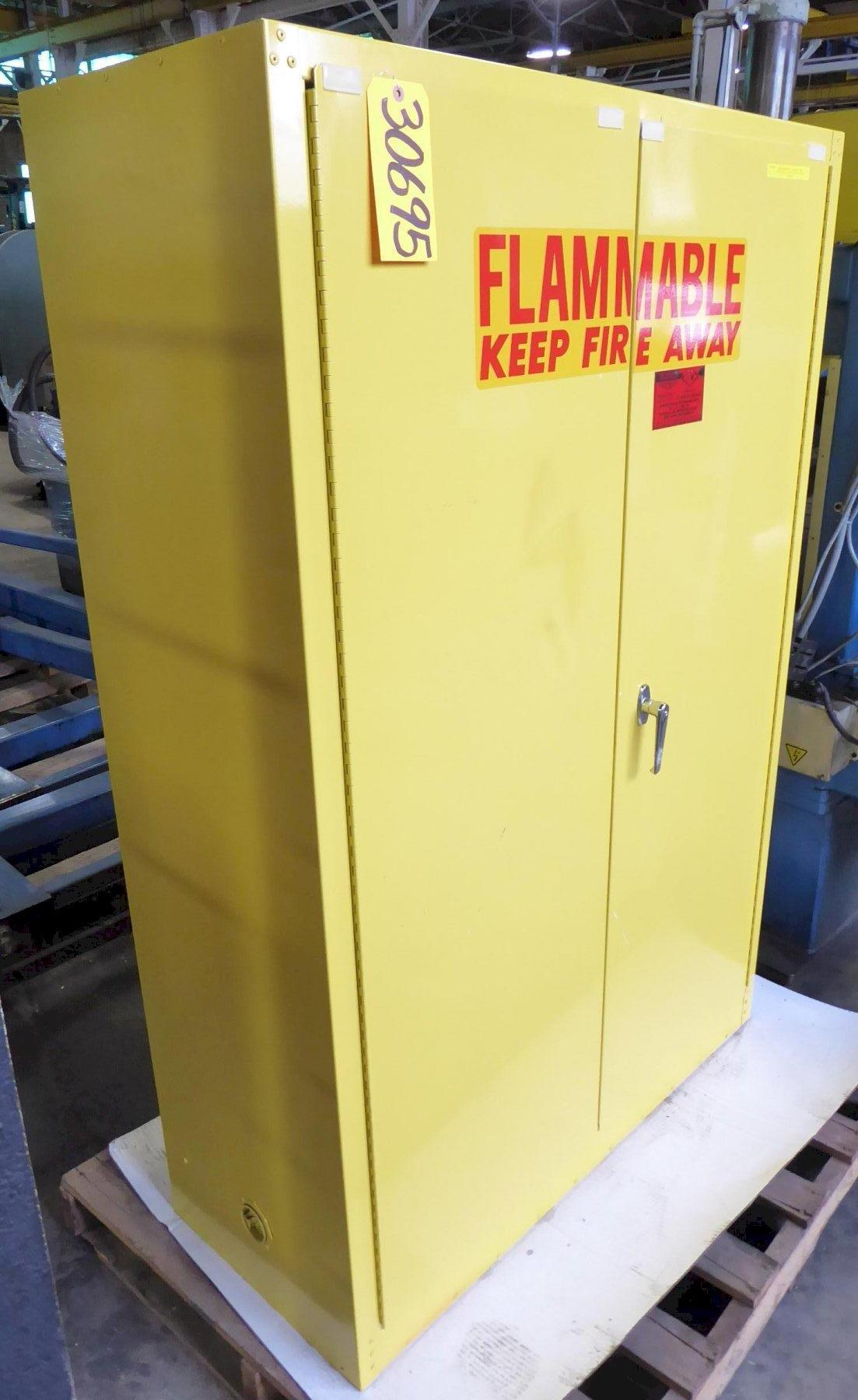 Eagle Flammable Materials Storage Cabinet Model 1947, 45 Gallon Capacity, Two Door, Two Shelves, Excellent