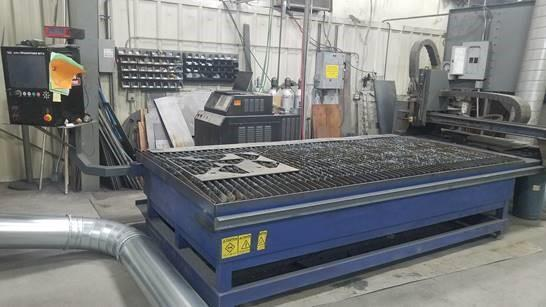 5' X 10' LINCOLN ELECTRIC MODEL #KALIBURN FINELINE 150 BURNY PLASMA CUTTING TABLE: STOCK 12413