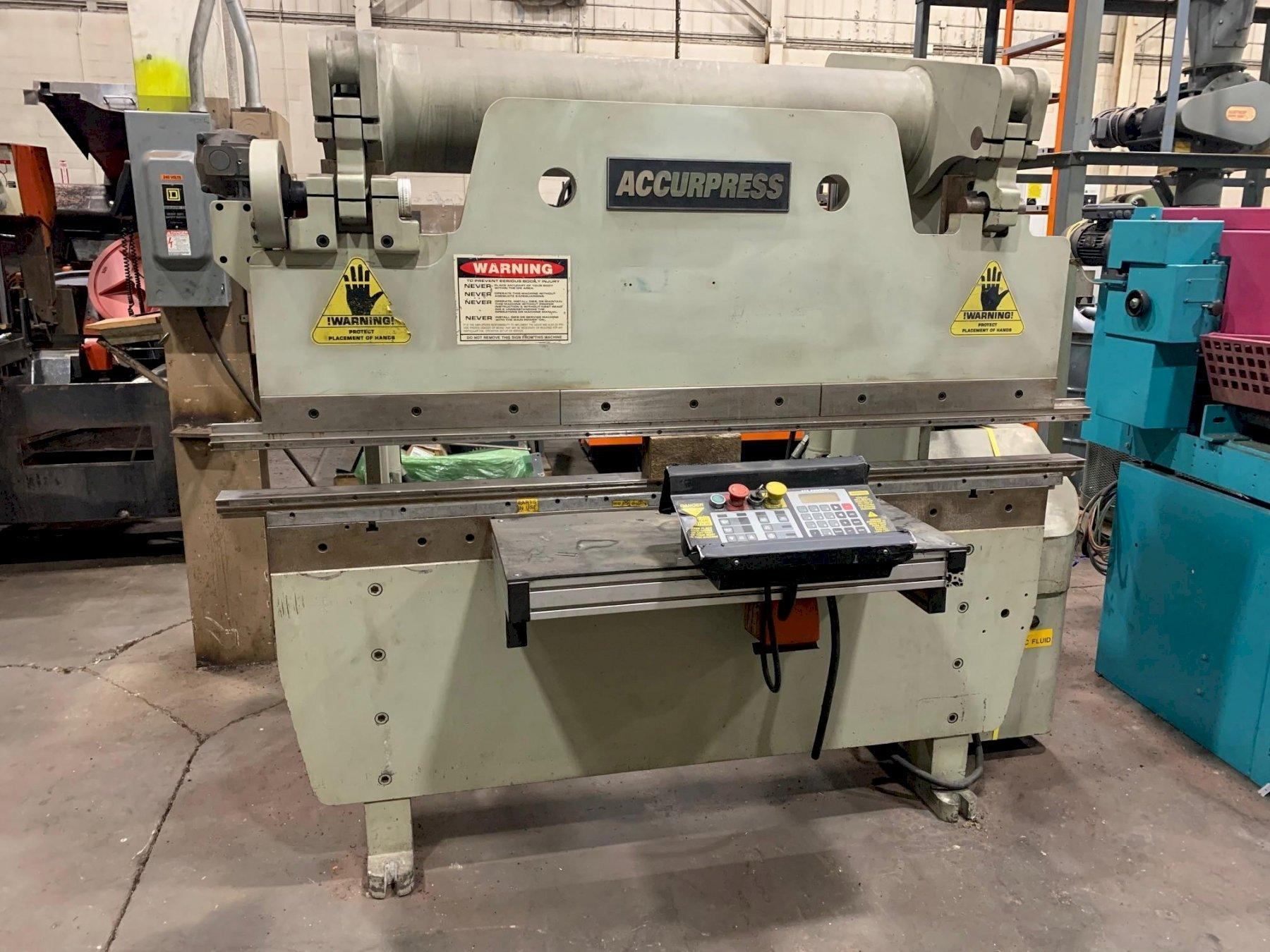USED ACCURPRESS 60 TON X 6' HYDRAULIC PRESS BRAKE MODEL 7606, Stock #10802, Year 1998