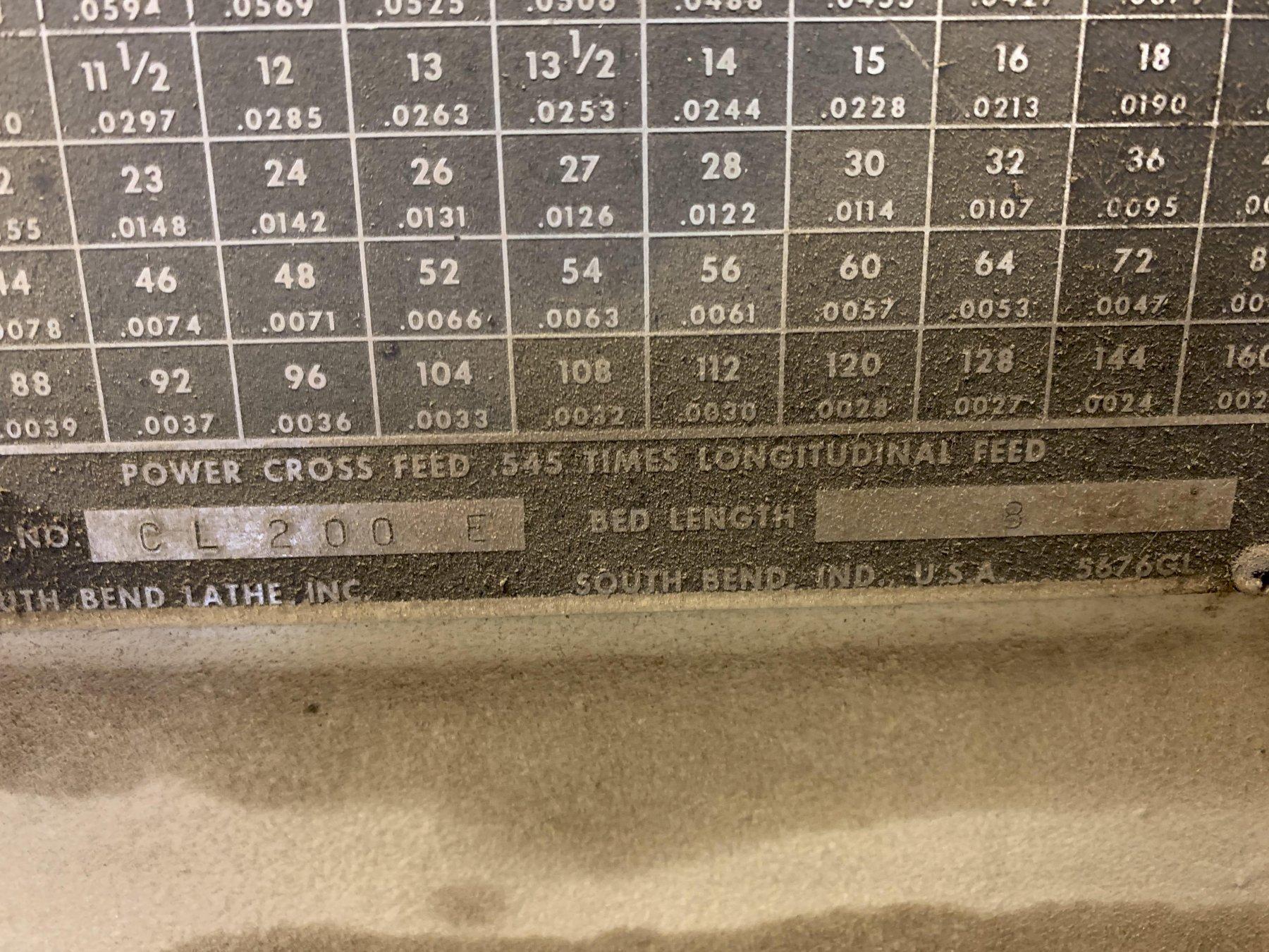 "20"" x 54"" South Bend Turn-Nado Geared Head Engine Lathe, S/N GL2954."