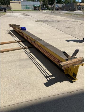 5 TON SHAW-BOX LIFT TECH UNDER HUNG ELECTRIC HOIST w/MOTORIZED TROLLEY