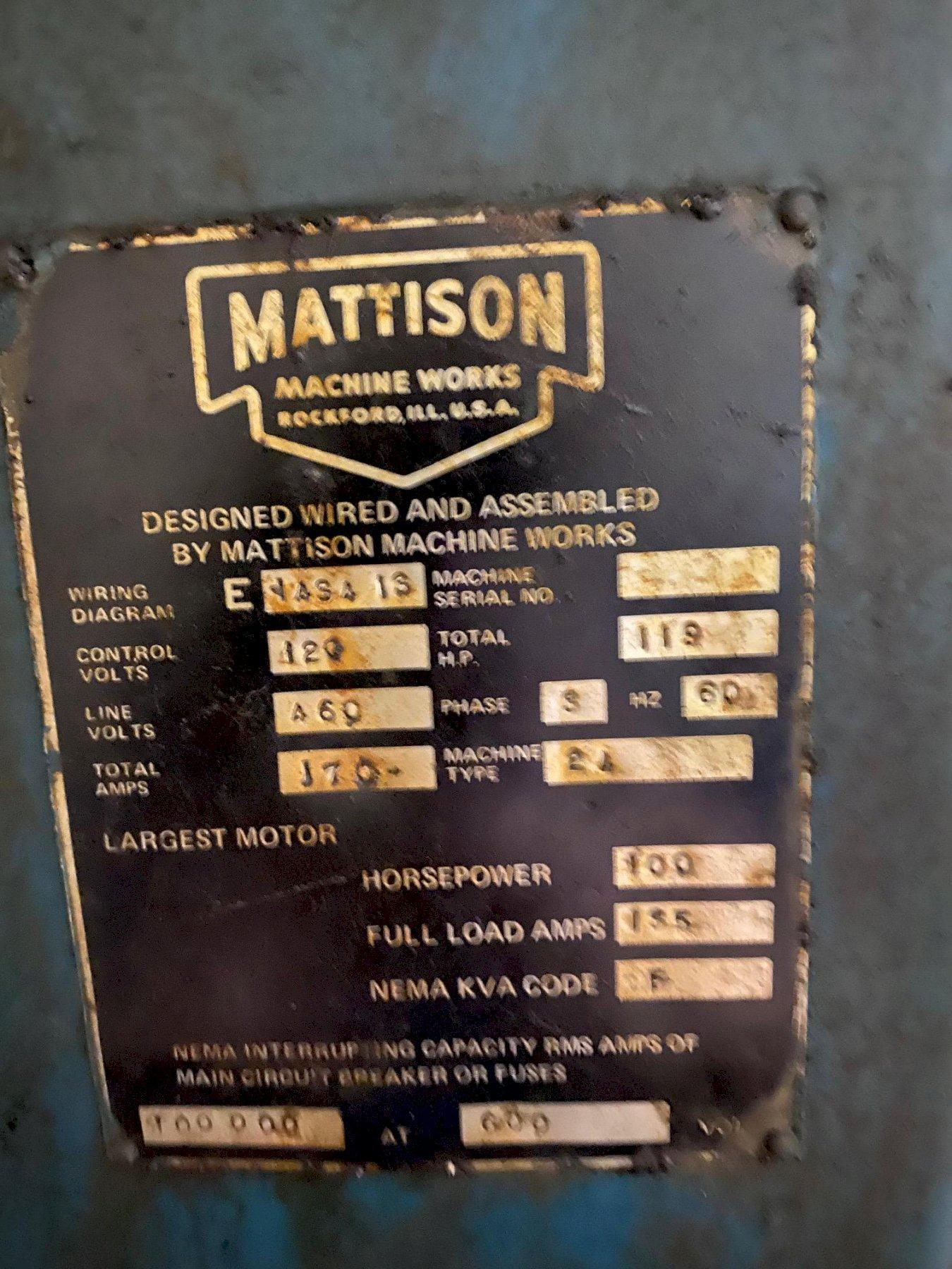 "48"" Mattison Rotary Surface Grinder"