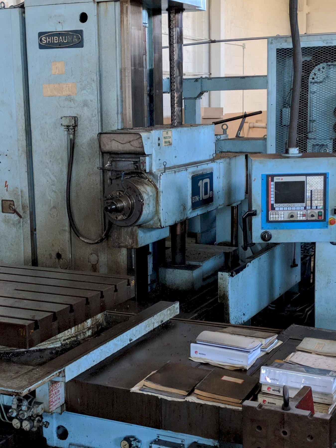 Toshiba Shibaura BTN-10B CNC Table Type Horizontal Boring Mill with 2012 Retrofit Fagor 8055i CNC Control and non operating 80 position toolchanger