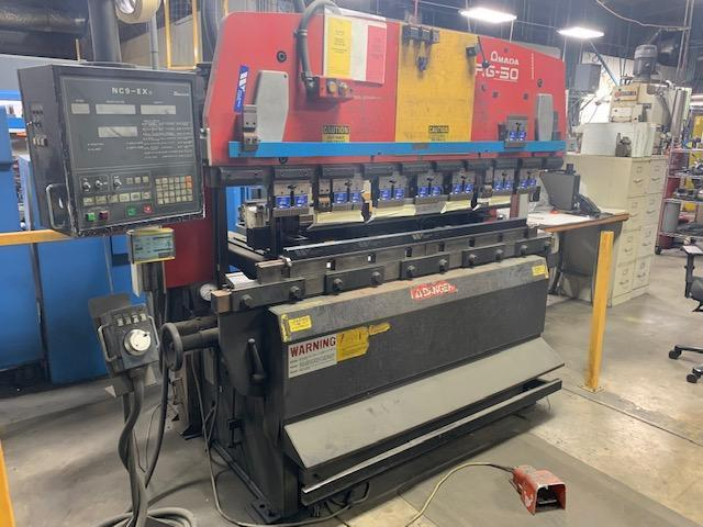 "50 Ton x 78.8"" AMADA RG50 Up Acting Hydraulic Press Brake with NC9EX-II CNC, Light Curtain, Tooling 1996"