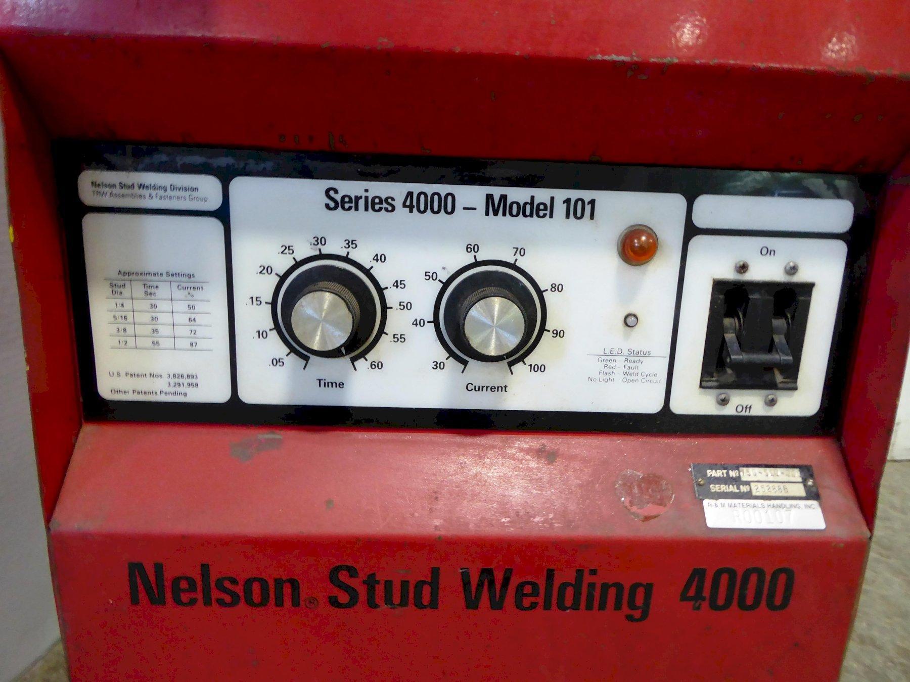 Nelson Stud Welder Series 4000 Model 101, Part No. 750-510-000, Welder and cables, No gun
