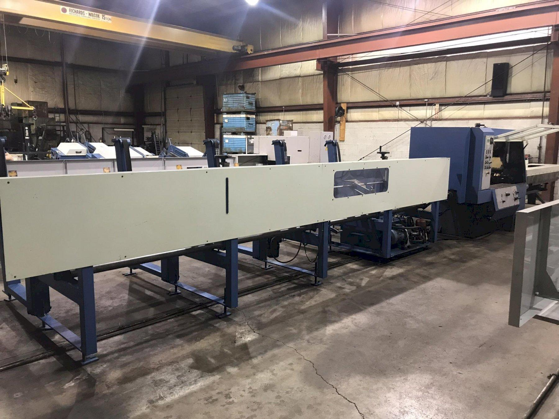 USED SIMEC MODEL CICLOMEC 122 CNC AUTOMATIC COLD SAW WITH 20' LOADING RACK, Stk# 10724, Year 2001