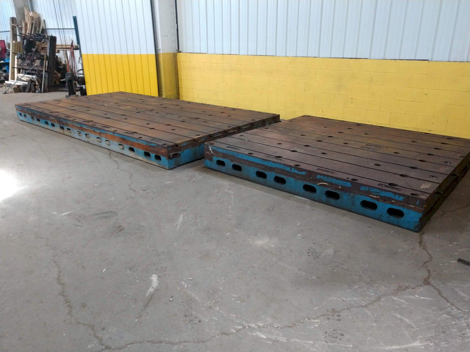 24' X 8' T SLOTTED FLOOR PLATE LAYOUT TABLE:  STOCK #13576