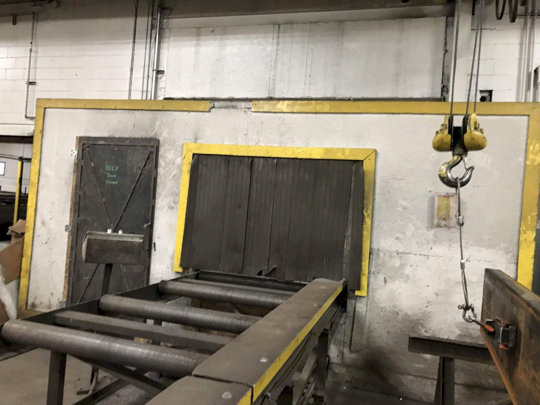 PANGBORN 4 WHEEL PLATE BLAST CLEANING LINE: STOCK #71706