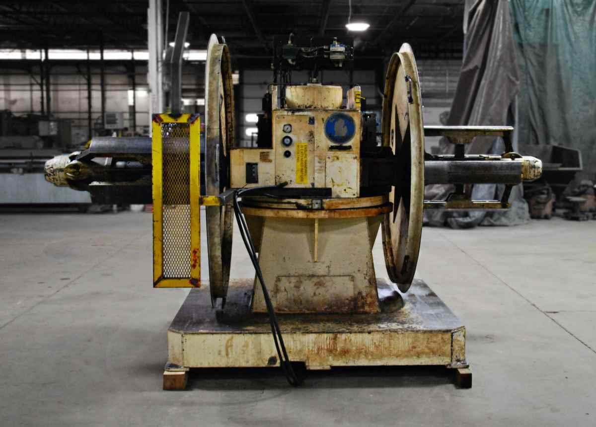 Michigan Roll Form Pull Off Double End Coil Reel Uncoiler 10,000 lb x 24