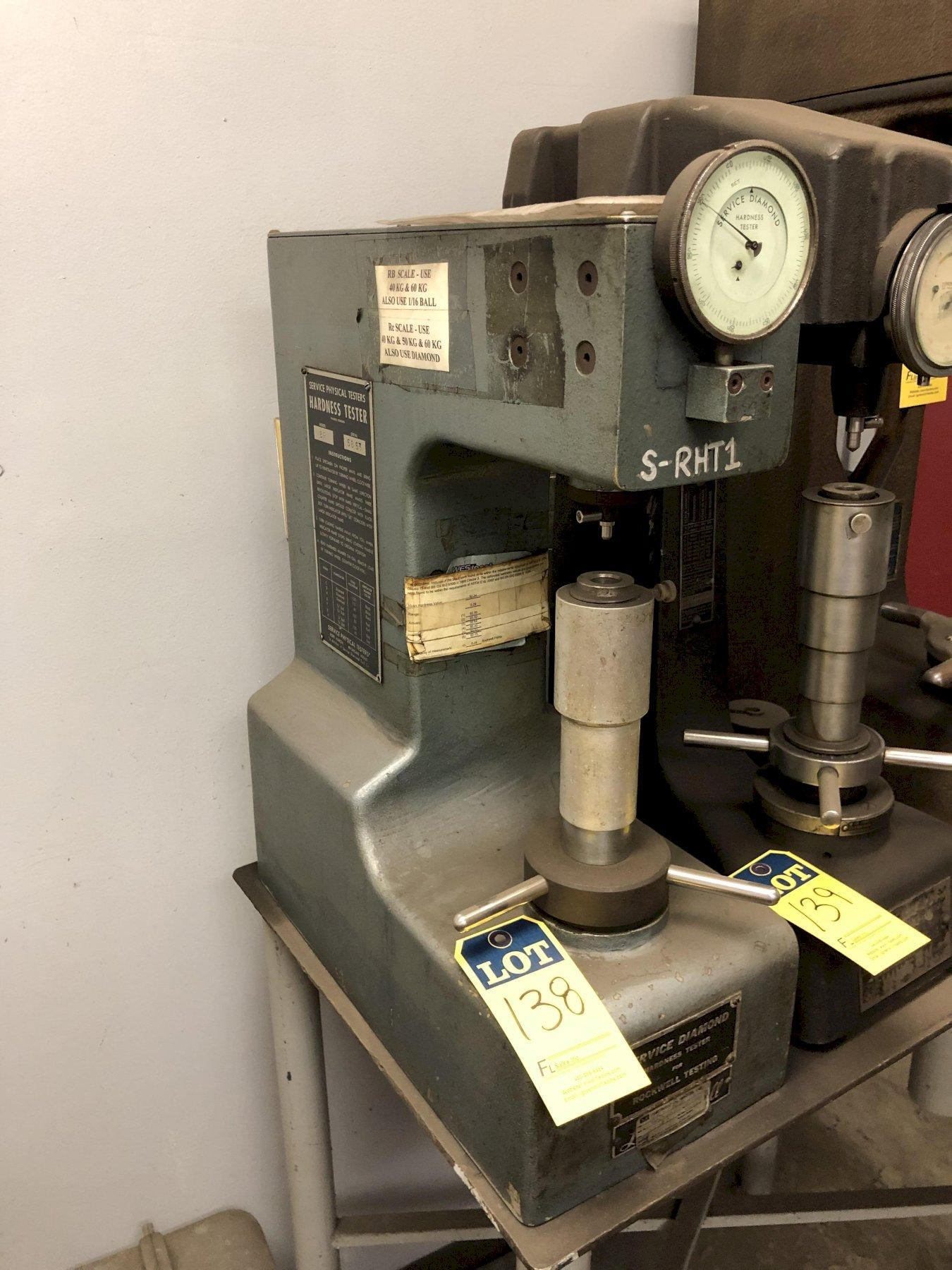 SERVICE MODEL 8B ROCKWELL TESTER S/N 5853