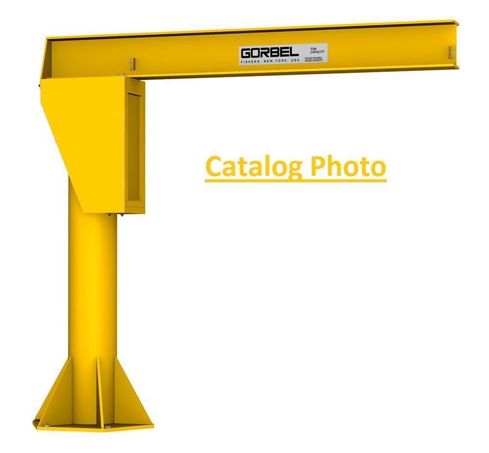 ½ Ton Gorbel Model FS-300 Free Standing I-Beam 360° Jib Crane with Hoist