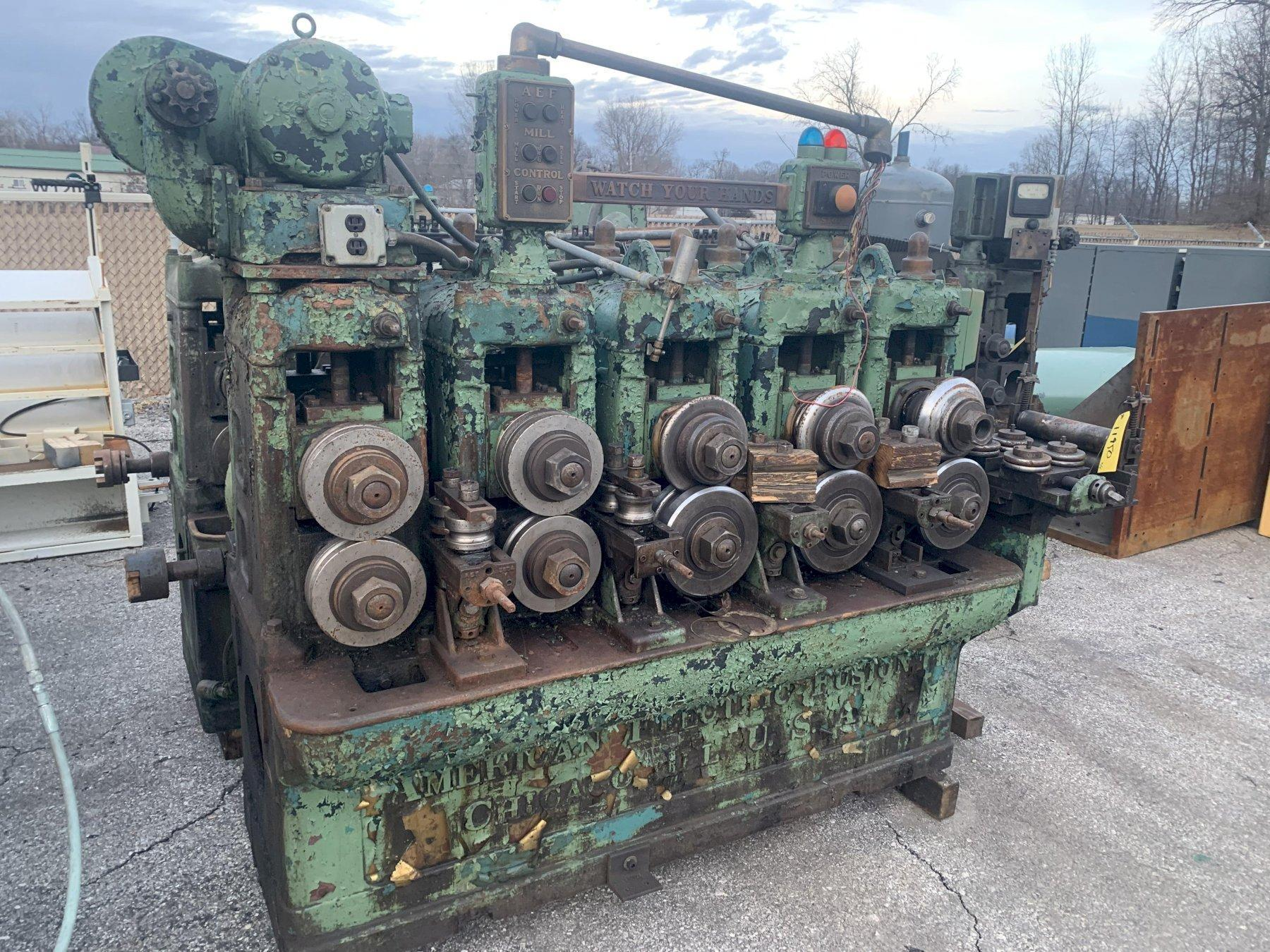 8 STAND AMERICAN ELECTRIC FUSION TUBE MILL / ROLLFORMER