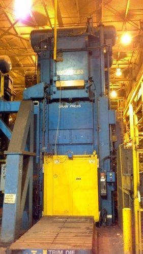 800 Ton Verson LE4-800-120-60t, Link Drive Straight Side Press, New 1994