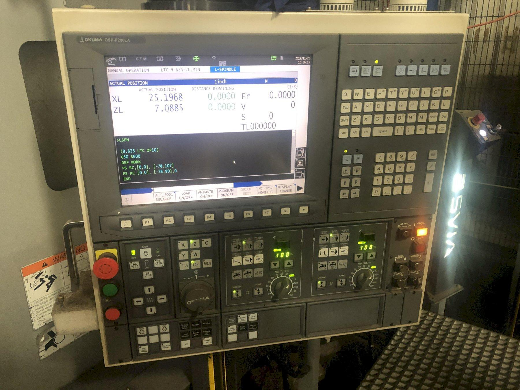 2012 Okuma 2SP-V60 - CNC Twin Spindle Vertical Turret Lathe