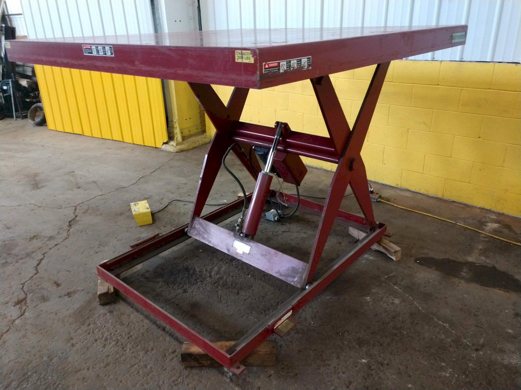 "2,000 LB X 72"" X 72"" ELECTRIC SCISSOR LIFT TABLE: STOCK #13266"
