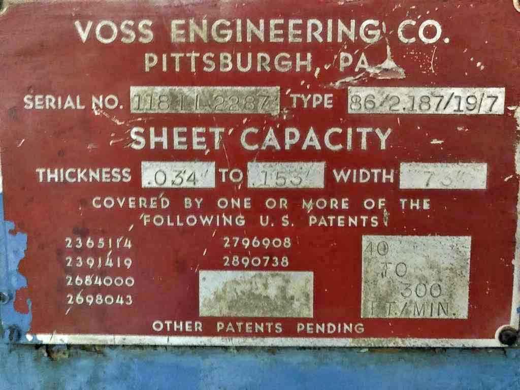 "84"" x 0.153"" Voss Precision Leveler"
