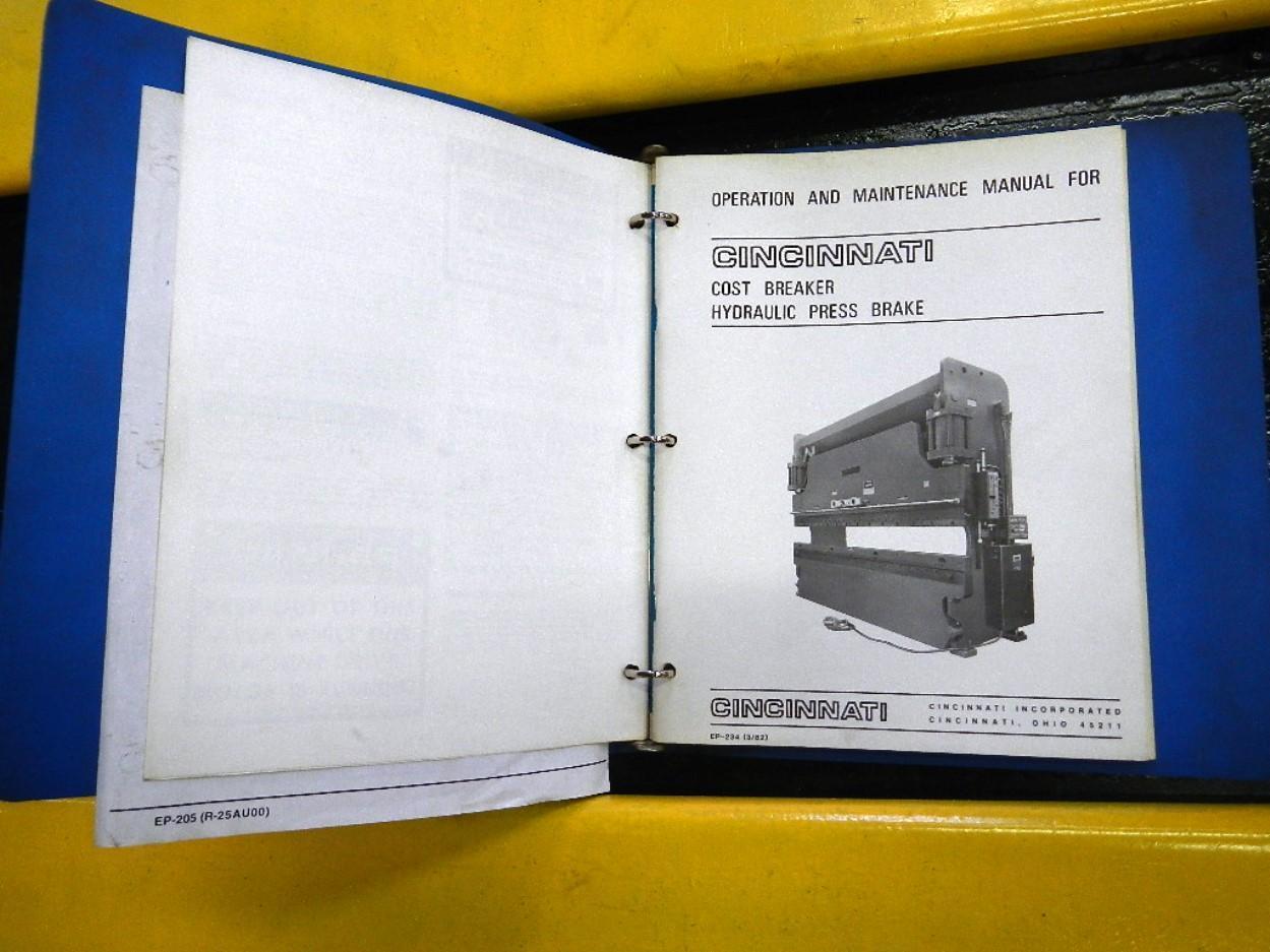 CINCINNATI MODEL 90CBX6 HYDRAULIC PRESS BRAKE
