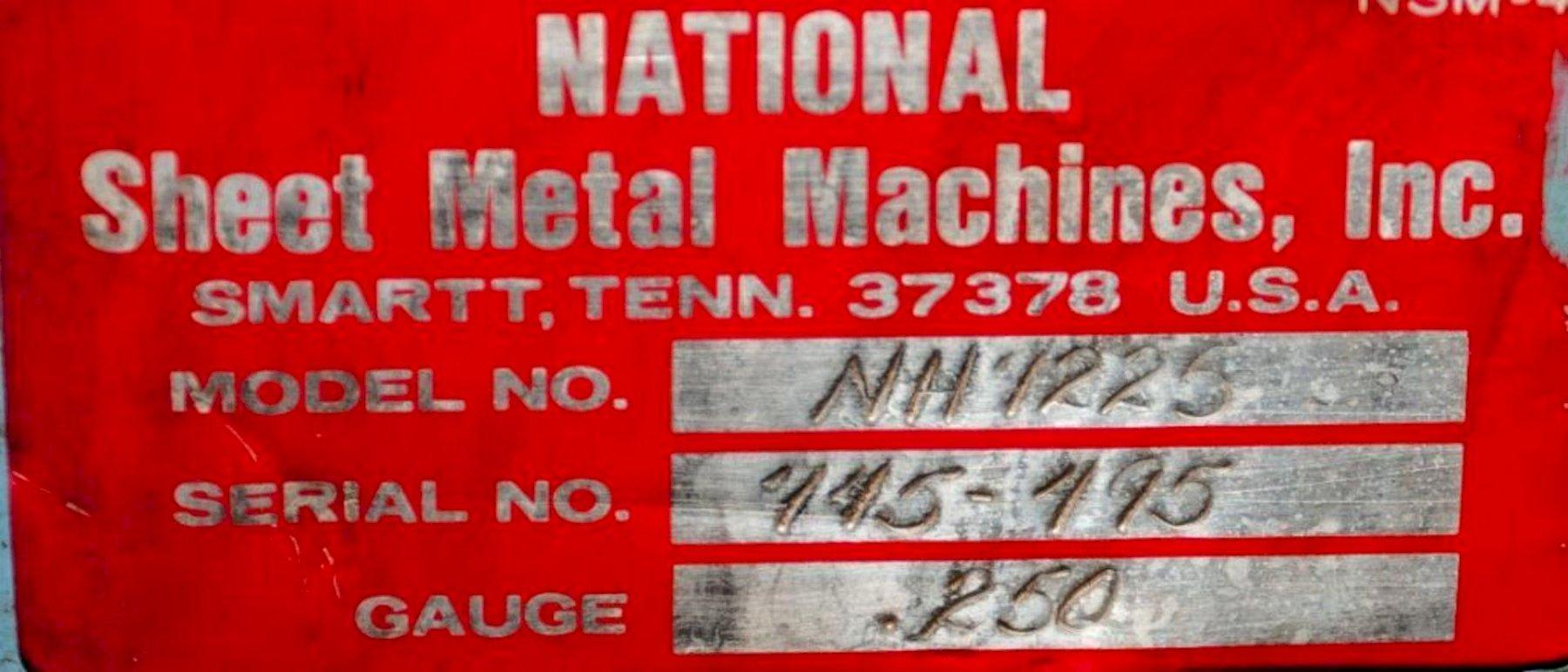 "6' X 1/4"" NATIONAL MODEL #NH7225 HYDRAULIC SHEAR: STOCK #15356"