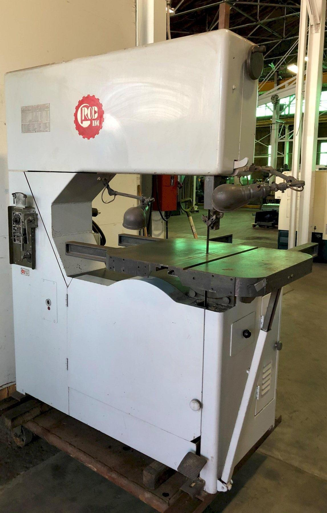36″ Grob Vertical Band Saw No. NS-36, 12″ Height, 50-2030FPM, Clean, Low Price