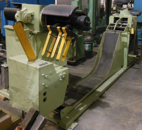 "2000# DATE DOUBLE END POWERED REEL W/STRAIGHTENER, 15.75"" W x .125"" thick, 1988, (9288)"