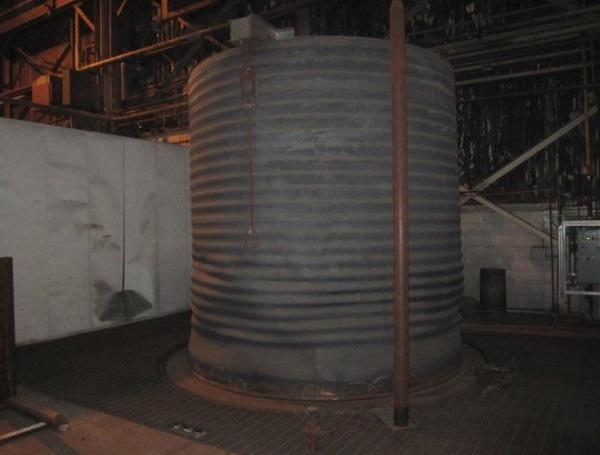 """114"""" (2900mm)W x 110"""" (2800mm)H RAD-CON WIRE BELL ANNEALING FURNACE SYSTEM   Our stock number: 112235"""