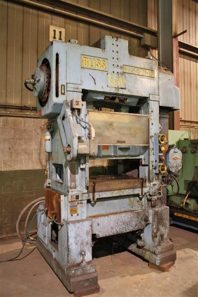 45 TON BLISS #HP2-45-36-30 HIGH SPEED PRODUCTION PRESS: STOCK #51670